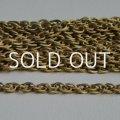 brass 7×5mm textured rope chain